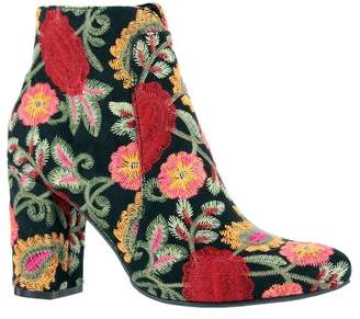 Mia Rosebud Embroidered Block Heel Bootie
