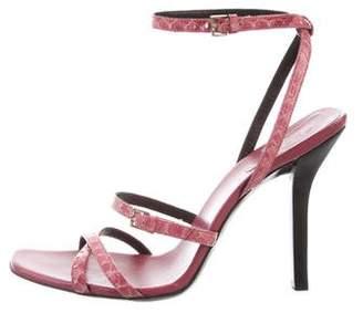 Gucci Python Ankle Strap Sandals