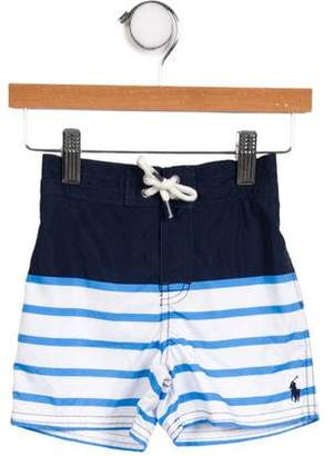 Ralph Lauren Boys' Striped Swim Trunks