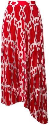 MSGM pleated asymmetric skirt