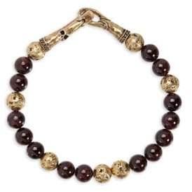 Mercer Brass & Red Garnet Bracelet