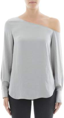 Theory Green Polyester Blouse