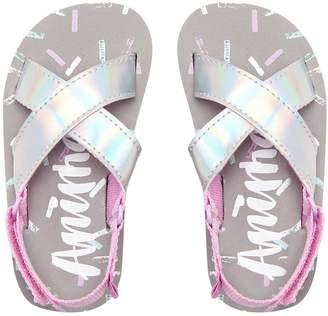 Animal Younger Girls Metallic Sandal
