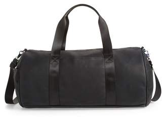 Violet Ray Front Pocket Faux Leather Duffel Bag