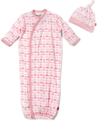 Magnificent Baby Dancing Elephants Modal Magnetic Gown & Hat