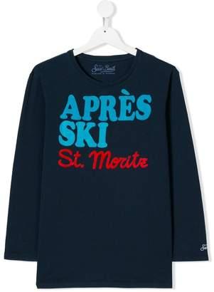 MC2 Saint Barth Kids slogan long-sleeve top