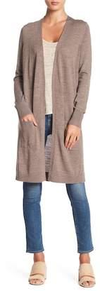 Halogen Wool Blend Open Front Cardigan