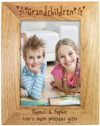 Very Personalised Grandchildren Wooden Photo Frame