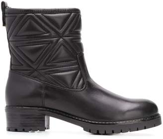 Emporio Armani quilted ankle boots