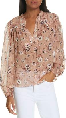 Ulla Johnson Constance Floral Print Silk Blend Blouse