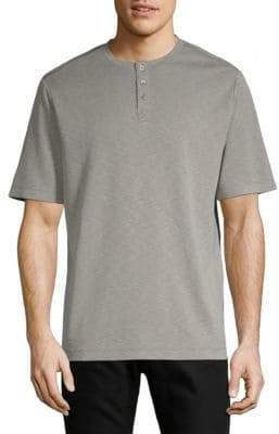 Saks Fifth Avenue Classic Short-Sleeve Henley