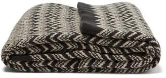 Missoni Home Ridley Zigzag Knit Cotton Throw - Black White
