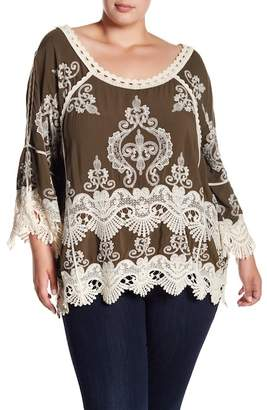 Democracy Embroidered Top (Plus Size)