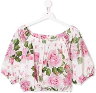 MonnaLisa TEEN floral print top