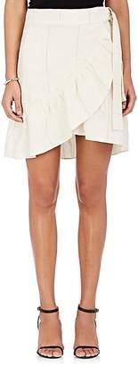 A.L.C. Women's Hampton Linen-Silk Wrap Miniskirt