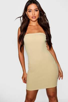boohoo Tonal Bandeau Mini Bodycon Dress