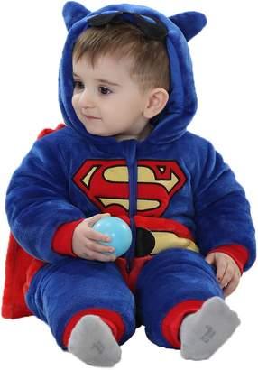 Roper Yimidear Cute Uniex Baby' Winter Flannel Pajamauit Coplay Cotume Animal Romper Oneie Outwearleepwear Nightwear Outfit (,uperman)