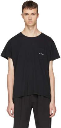 Second/Layer Black Logo Pocket T-Shirt