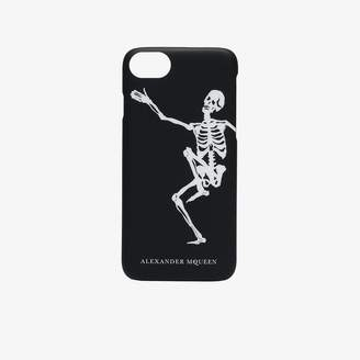 Alexander McQueen black and white Skeleton iPhone 8 case