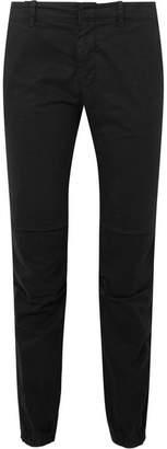 Nili Lotan French Military Cropped Stretch-cotton Twill Slim-leg Pants - Black