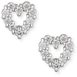 Roberto Coin Baby Heart Earrings with Diamonds
