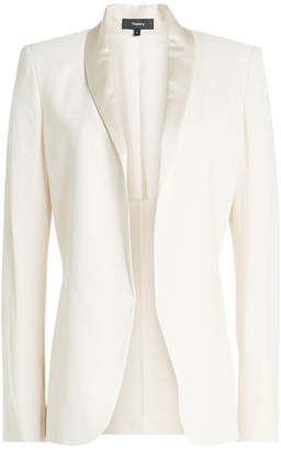Theory Fluid Shawl Blazer with Satin Lapels