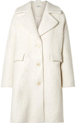Ganni Fenn Oversized Wool-blend Bouclé Coat - Cream