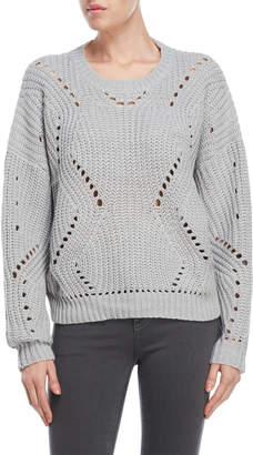 Lush Pointelle Knit Sweater