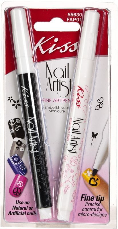 Kiss Nail Artist Fine Art Pen Black and White