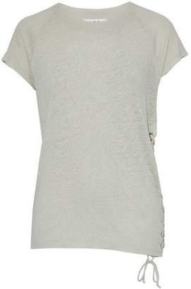IRO Lace-Up Slub Linen T-Shirt
