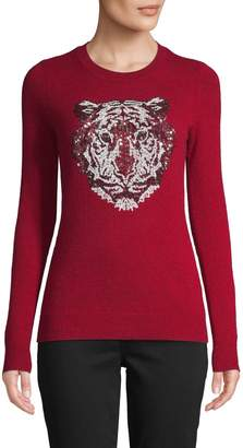 Autumn Cashmere Sequin Tiger Cashmere Sweater