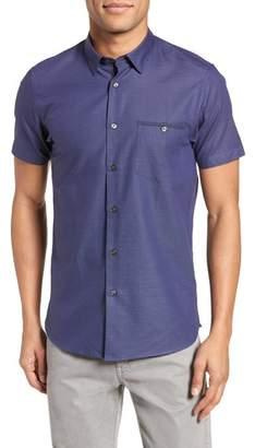 Ted Baker Dotdots Trim Fit Dot Short Sleeve Sport Shirt