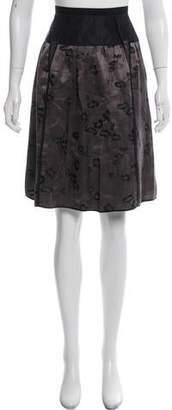Marc Jacobs Printed Silk Knee-Length Skirt
