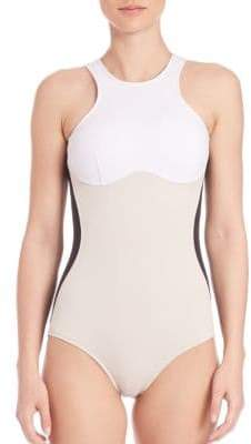 Stella McCartney One-Piece Colorblock Swimsuit