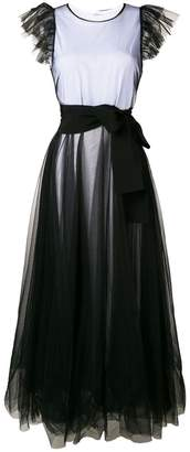 P.A.R.O.S.H. tulle empire line dress