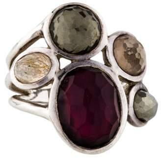 Ippolita Mother of Pearl, Quartz & Pyrite Wonderland Ring silver Mother of Pearl, Quartz & Pyrite Wonderland Ring