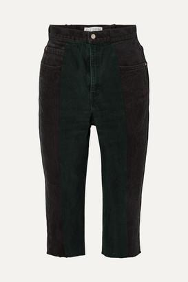 E.L.V. Denim - Net Sustain The Twin Denim Shorts - Black