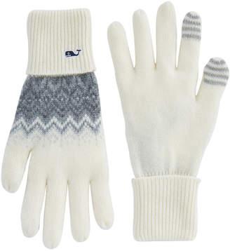 Vineyard Vines Tonal Fair Isle Texting Gloves