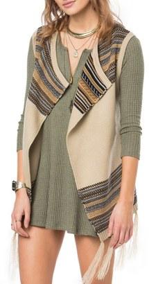 Women's O'Neill Pfeiffer Stripe Knit Vest $74 thestylecure.com