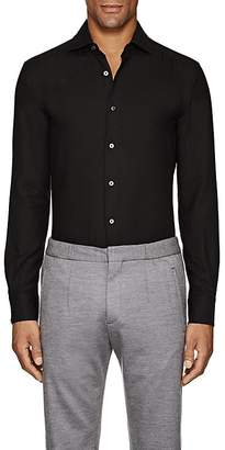 Ermenegildo Zegna Men's Cotton-Cashmere Twill Shirt