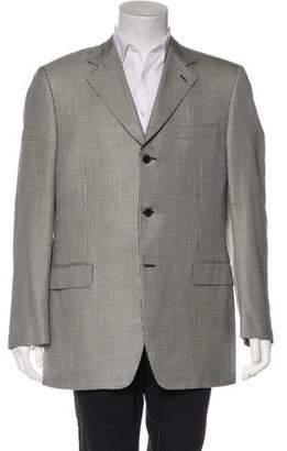 Canali Silk & Wool Houndstooth Blazer