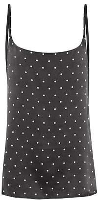 Asceno Mini Polka silk camisole