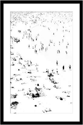 Casa Uno Little Bathers Left Framed Print, 80x120cm