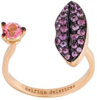 Delfina Delettrez 'Lips piercing' sapphire ring