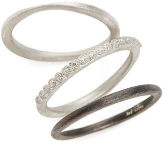 Armenta New World Set of Three Stacking Rings