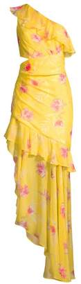 AMUR Radiant Floral Silk Gown