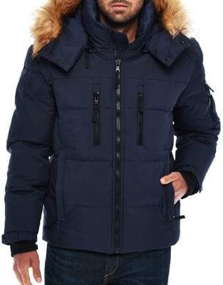 S13 Puffer Jacket with Faux Fur Hood