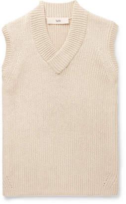 Séfr Ribbed Cotton-Blend Sweater Vest