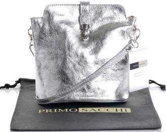 BEIGE Primo Sacchi Italian Smooth Light Leather Hand Made Small Cross Body or Shoulder Bag Handbag. Includes a Branded Protective Storage Bag