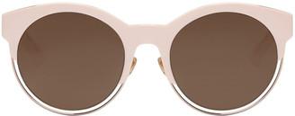 Dior Pink Round Sunglasses $450 thestylecure.com
